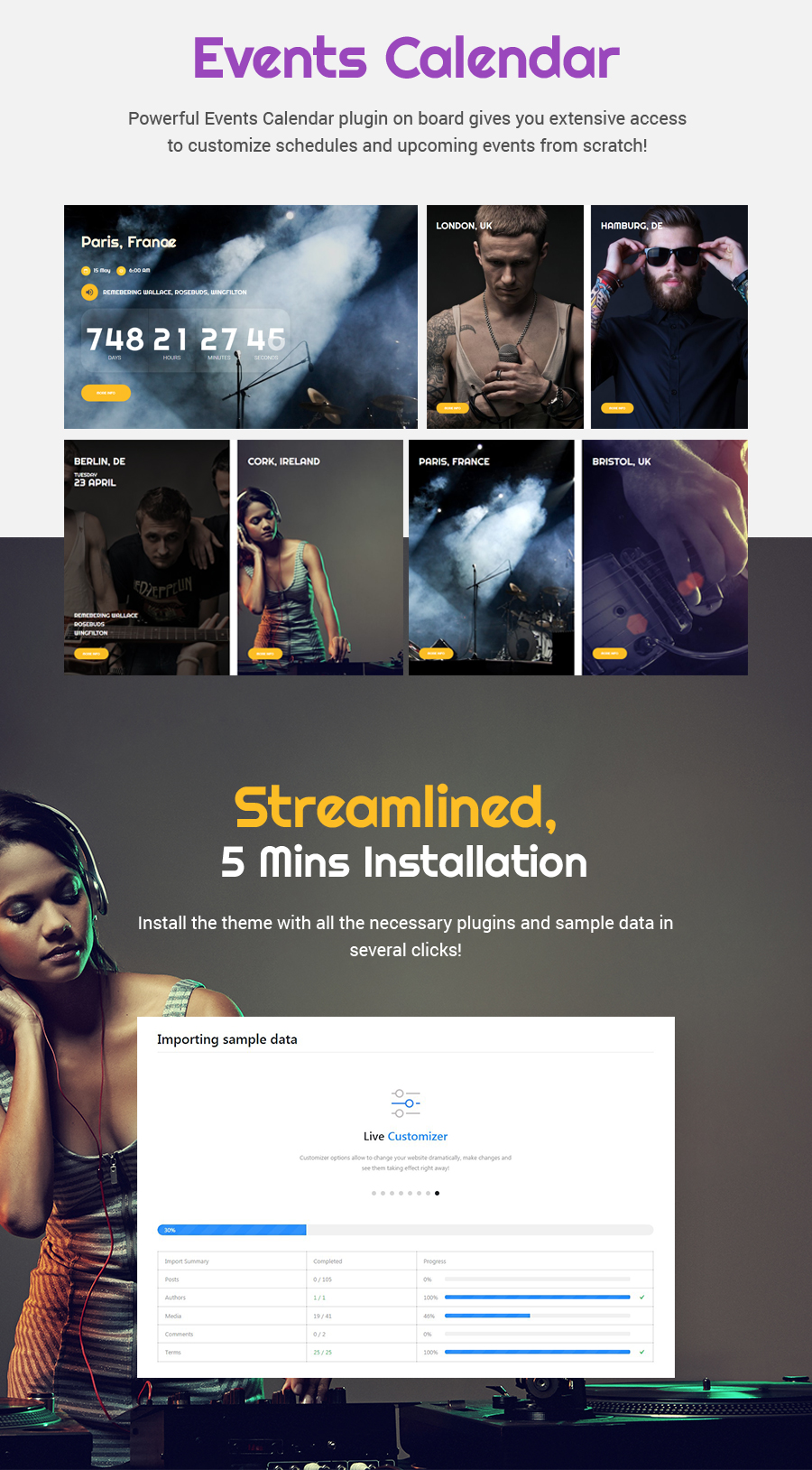 Valedictorians - Entertainment & Creative WordPress Theme