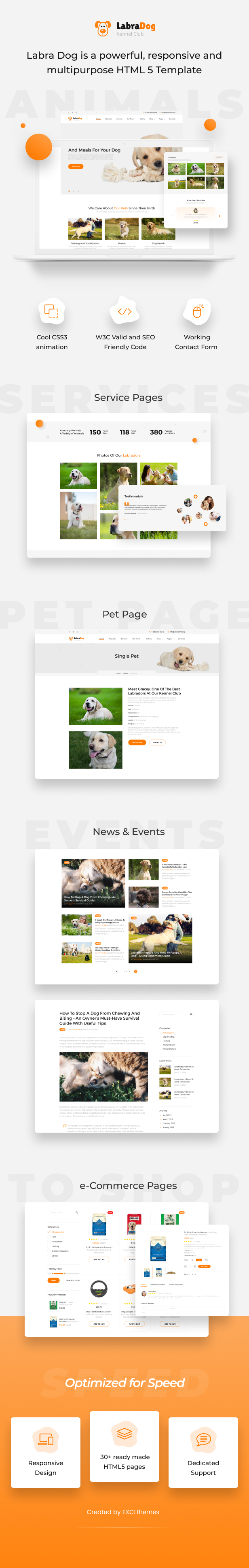 LabraDog - Pet Care HTML Template