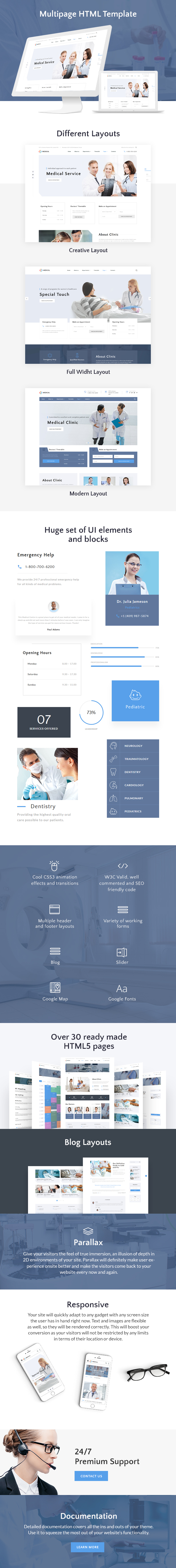 Private Medical Center Multipage HTML5 Template - 1