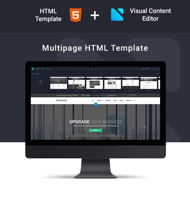 Reckondit - Audit Multipage HTML5 Template - 2