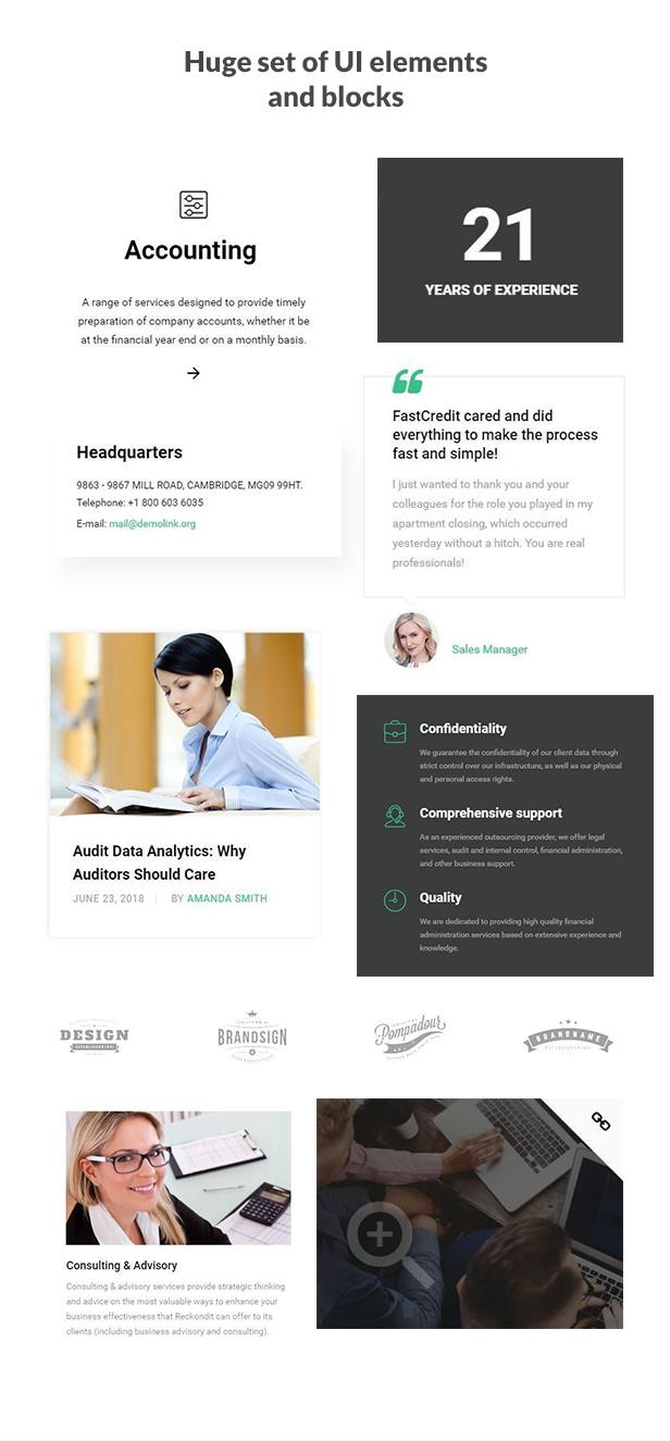 Reckondit - Audit Multipage HTML5 Template - 3