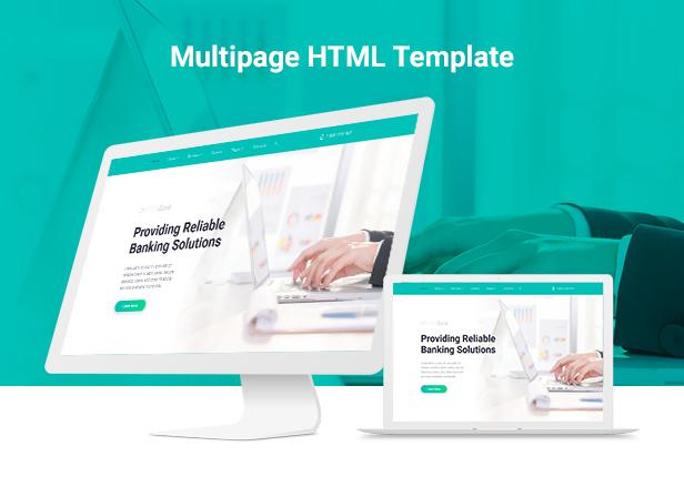 VistaPay - Bank Multipage HTML5 Template - 1